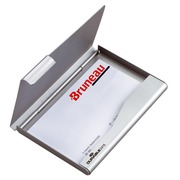 Business cards holder Durable aluminium for 20 cards.