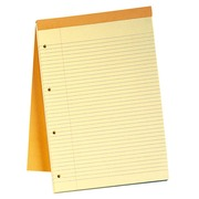 Writing block Rhodia orange stapled and perforated 4 holes 80 sheets yellow lined n°119 size A4+ 21 x 31.8 cm