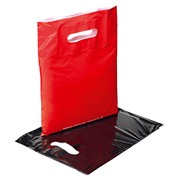 Bottle bags paper with film layer shiny violet - Pack of 20