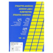 Box of 2100 coloured labels 63,5 x 38,1 mm - blue
