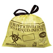 Box of 500 garbage bags 15 l NF with closure ribbon for clinical waste