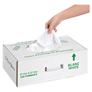 Precut white cotton rags box of 120 pieces