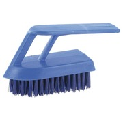 Professional nail brush polyester width 13 cm blue.