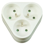 Triangular socket box 2P + T3X16A