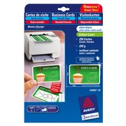 Sleeve 250 visit cards Avery C32025 rounded corners - size 85 x 54 mm