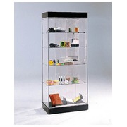 Déco, display case, black ash