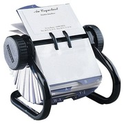 Open rotary file Rolodex for business cards