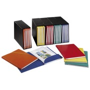 Set of 5 containers with 25 assorted folders