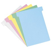 T-shaped guide cards standard 92 mm, pink 100pcs.