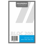 Notepad Aurora A5 148 x 210 mm 5 x 5 200 pages