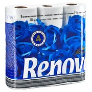 Toilet paper 4 layers Royal Renova - box with 63 rolls of 140 sheets