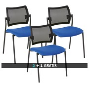 Pack Yota mesh back chairs 2 + 1 free blue