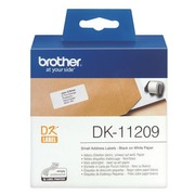 Adresetiketten papier 29 x 62 mm Brother DK11209 wit - rol van 400