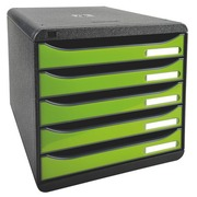 Klasseerbox Exacompta Big Box Plus 5 laden glossy groen