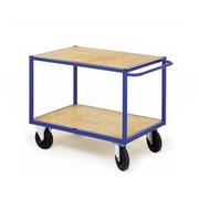 Trolley for workshop 2 wooden trays width 126 cm- capacity 500 kg
