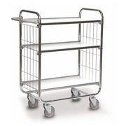 Trolley galvanized 3 trays - capacity 250 kg