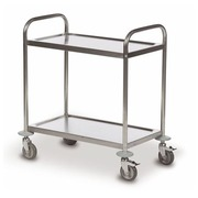 Trolley 2 trays stainless steel 18/0 - capacity 100 kg