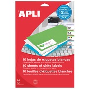 Box of 330 address labels Apli for inkjet, laser and copier - white 70 x 25.4 mm