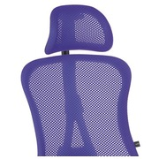 Head support for office chair Andrio blue