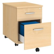 Drawer cabinet height 58 cm wood 2 drawers Arko beech
