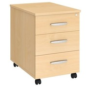 Drawer cabinet height 58 cm wood 3 drawers Arko beech