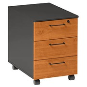 Mobile cabinet 3 drawers alder - anthracite Quarta Plus