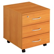 Styx, mobile drawer cabinet, cherry, 3 drawers