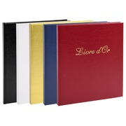 Guest book imitation leather with title - protrait 19x21cm - Assorted colours