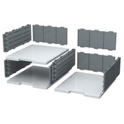 MODULODOC Jumbo case set Classic - Light grey/ mouse grey