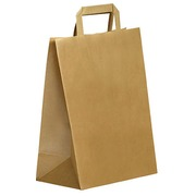 Shopping bag ECO kraft with flat handles 31 x 26 x 14 cm - pack of 250
