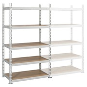 Archive rack Industri'Eco 2 basis element H 200 x W 130 x D 60 cm in galvanized steel plate