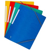 Folder with elastics without flap glossy cardboard Bruneau - A4 assortment