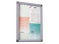 Information board, coloured frame, for 4 sheets