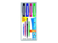 Etui van 4 viltstiften Papermate Flair klassiek - assortiment