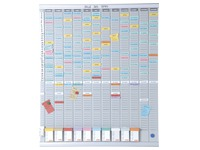 Annual planning with T-cards 13 columns Nobo