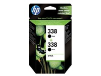 Pack van 2 cartridges HP 338 zwart