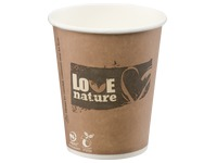 "Composteerbare bekers ""Love Nature"" wegwerpbaar karton 25 cl - Set van 400"