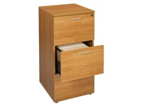 Wooden cabinet drawers for suspension files , 3 drawers, alder