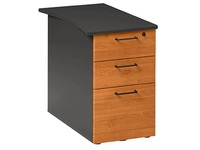 Cabinet at desk height Quarta Plus 3 drawers with depth 80 cm