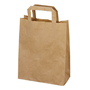 Pack of 50 kraft bags with flat handle 44 x 32 x 17 cm