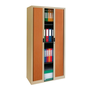 Dismountable tambour cabinet Union 195 x 90 cm shutters in wood colour beige