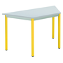 Classic trapezoidal multiform table grey